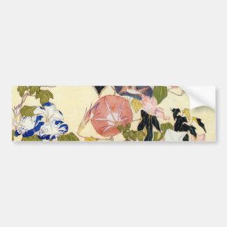 朝顔, 北斎 Morning Glory, Hokusai, Ukiyo-e Car Bumper Sticker
