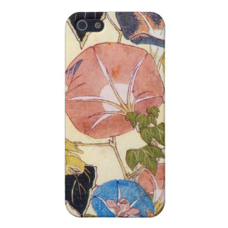 朝顔, 北斎 Morning Glory, Hokusai, Ukiyo-e Cover For iPhone SE/5/5s