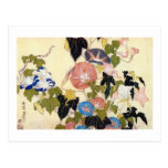 朝顔, correhuela del 北斎, Hokusai, Ukiyo-e Postal