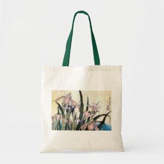 杜若ときりぎりす, 北斎 Iris and Grasshopper, Hokusai Tote Bag
