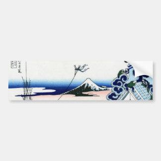 東都浅草本願寺, 北斎 View Mt.Fuji from Asakusa, Hokusai Bumper Sticker