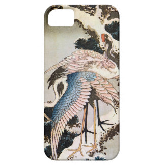 松に鶴, 北斎 Cranes on Pine Tree, Hokusai, Ukiyo-e iPhone SE/5/5s Case