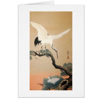 松に鶴, 古邨 Crane on Pine Tree, Koson, Ukiyo-e Card