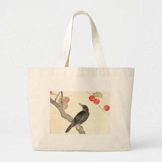 柿に烏, caqui y cuervo, Hōitsu del 抱一 Bolsa Tela Grande