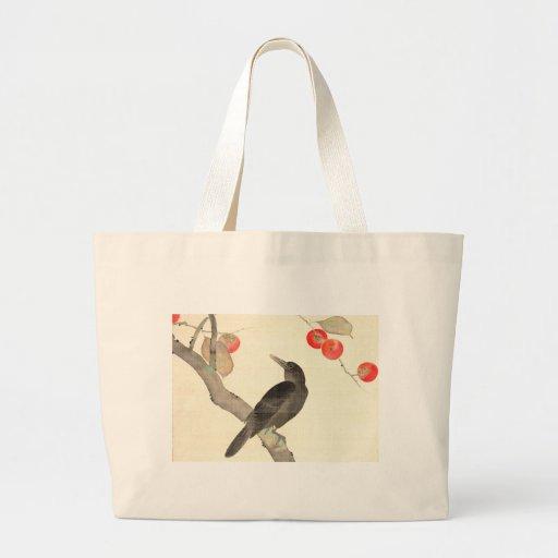 柿に烏, caqui y cuervo, Hōitsu del 抱一 Bolsa