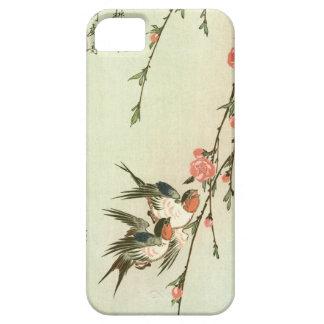 桃の花に燕, 広重 Peach Blossom and Swallow, Hiroshige iPhone SE/5/5s Case