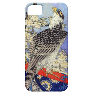 桜にハヤブサ, Falcon & Cherry Blossoms, Hokusai, Ukiyo-e iPhone SE/5/5s Case