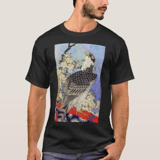 桜にハヤブサ, Falcon & Cherry Blossoms, Hokusai, Ukiyo-e T-Shirt