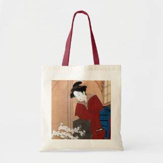桜の花と女, 春章 Cherry Blossoms and a Woman, Shunsho Tote Bag