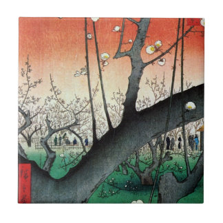 梅の庭園, 広重 Garden of Plum Tree, Hiroshige, Ukiyo-e Ceramic Tile