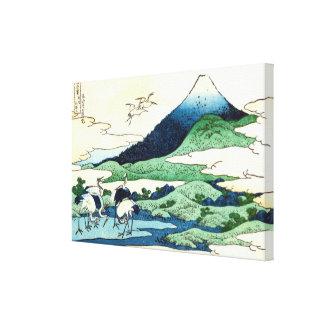 梅沢, 北斎 View Mt.Fuji from Umezawa, Hokusai, Ukiyo-e Stretched Canvas Print