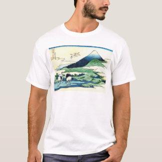 梅沢, 北斎 View Mt.Fuji from Umezawa, Hokusai, Ukiyo-e T-Shirt