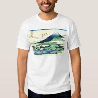 梅沢, 北斎 View Mt.Fuji from Umezawa, Hokusai, Ukiyo-e Tee Shirts