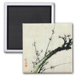 梅花, 北斎 Plum Blossoms, Hokusai, Ukiyo-e Magnet