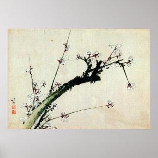 梅花, 北斎 Plum Blossoms, Hokusai, Ukiyo-e Poster