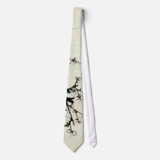 梅花, 北斎 Plum Blossoms, Hokusai, Ukiyo-e Tie
