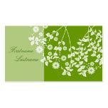 植物柄 名刺  visiting card tarjetas de visita