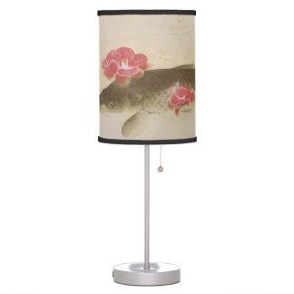 椿と鯉, 速水御舟 Camellia and Carp, Gyoshū Desk Lamp
