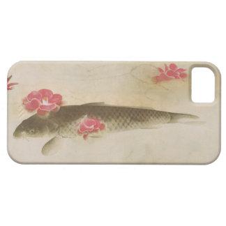椿と鯉, camelia y carpa, Gyoshū del 速水御舟 iPhone 5 Case-Mate Protector
