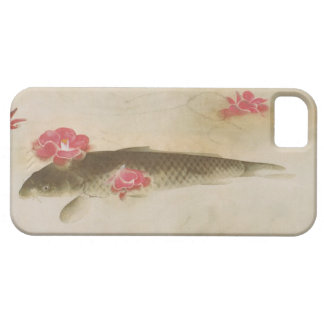 椿と鯉 camelia y carpa Gyoshū del 速水御舟 iPhone 5 Case-Mate Protector