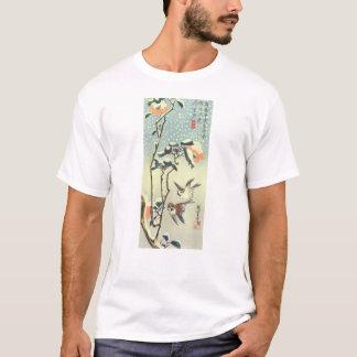 椿に雀, camelia y gorrión, Hiroshige, Ukiyo-e del 広重 Playera