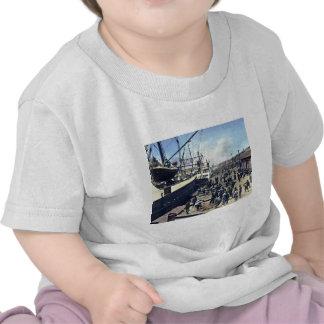 横浜港 del envío del vintage de Japón del puerto de Y Camisetas