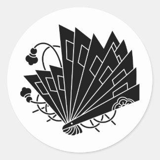 檜 fan butterfly classic round sticker