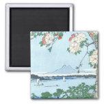 歌川広重「隅田川水神の森真崎」 Suijin Shrine, Massaki Hiroshige Magnets
