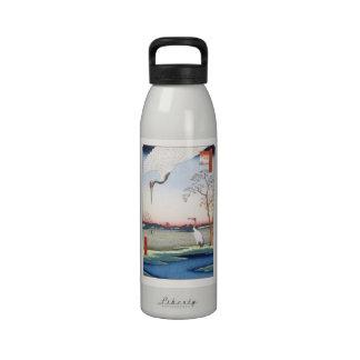 歌川広重 Minowa,Kanasugi,Mikawashima,Hiroshige Reusable Water Bottle