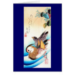 歌川広重 Oshidori (Mandarin Ducks), Hiroshige Cards