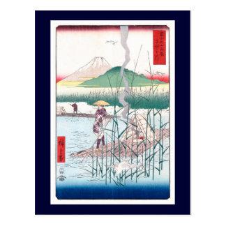 歌川広重  Sagami River, Utagawa Hiroshige Postcards