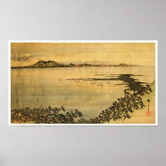 歌川広重 Utagawa Hiroshige del paisaje del 風景画 Póster