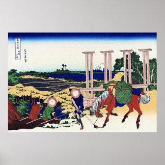 武州千住, opinión el monte Fuji del 北斎 de Senju, Hokus Posters
