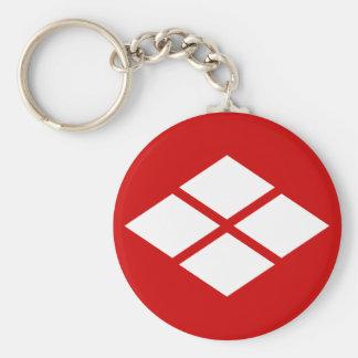 武田信玄 家紋, Takeda Shingen KAMON, Japanese Family Cre Basic Round Button Keychain