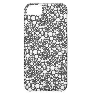 水玉模様の渦巻のiPhone Cover For iPhone 5C