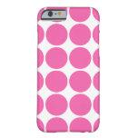 水玉模様パターンプリントの設計ショッキングピンクの水玉模様 iPhone 6 CASE