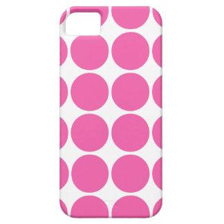 水玉模様パターンプリントの設計ショッキングピンクの水玉模様 iPhone SE/5/5s CASE