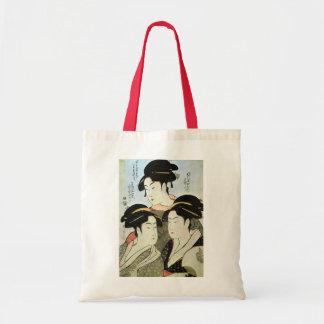 江戸の三美人, 歌麿 Three Beautiful Women of Edo, Utamaro Tote Bag