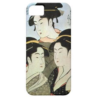 江戸の三美人, mujeres hermosas del 歌麿 tres de Edo, Utama iPhone 5 Case-Mate Cárcasas
