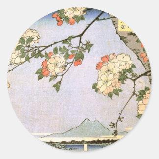 江戸の桜, 広重 Cherry Blossoms of Edo, Hiroshige Stickers