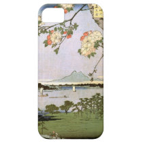 江戸の桜, 広重 Cherry Blossoms of Edo, Hiroshige, Ukiyoe iPhone SE/5/5s Case