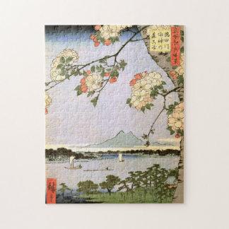 江戸の桜, 広重 Cherry Blossoms of Edo, Hiroshige, Ukiyoe Jigsaw Puzzle