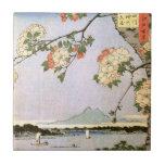江戸の桜, flores de cerezo del 広重 de Edo, Hiroshige, U Teja