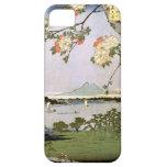 江戸の桜, flores de cerezo del 広重 de Edo, Hiroshige, U iPhone 5 Case-Mate Protectores