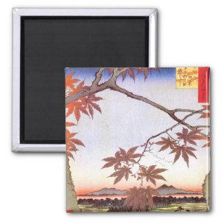 江戸の紅葉, 広重 Maple of Edo, Hiroshige, Ukiyo-e Magnet