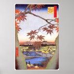 江戸の紅葉, 広重 Maple of Edo, Hiroshige, Ukiyo-e Posters