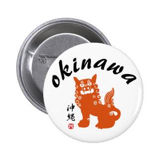 沖縄, león de Okinawa Oriental Pin Redondo De 2 Pulgadas
