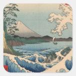 波と富士山, 広重 Wave and Mount Fuji, Hiroshige Stickers