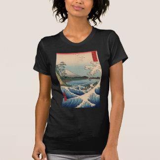 波と富士山, 広重 Wave and Mount Fuji, Hiroshige T-Shirt