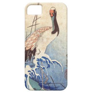 波と鶴, 広重 Crane and Waves, Hiroshige, Ukiyo-e iPhone 5 Case